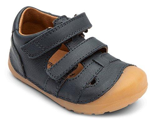 Bundgaard Kinder Jungen Sandale BG202066 Blau Marine Klettverschluss Leder Zehenschutz Größe 19 EU