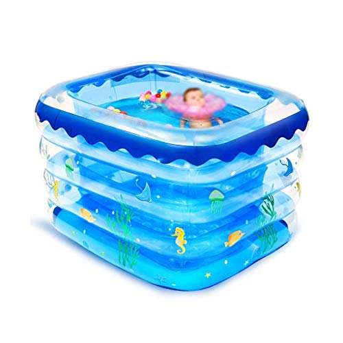 Piscina Azul, Apto for 1-2 Personas Piscina del bebé de baño Piscina Summer Fun Toy Piscina Inflable de la Piscina Multifuncional Piscina Family Water Park (Tamaño: 140 * 105 * 75cm) kairui DDLS