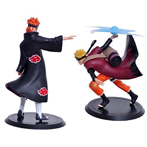 RGERG Figuras Acción Marvel Shippuden Figura de acción Juguetes Uzumaki Naruto VS Pein PVC Colección de Dolor Modelo de Juguete, Aproximadamente 17-19 cm de Altura