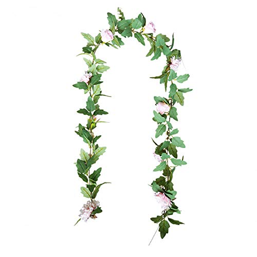 Seika Artificial Magnolia Rattan Garland Door Ornaments Wreaths, Artificial Plant Garlands Decor