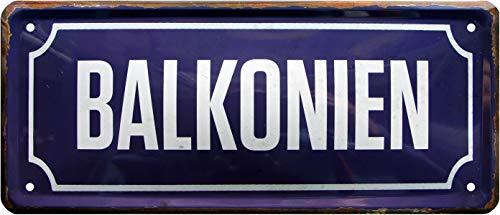 Balkonien 1304 Plaque en tôle décorative 28 x 12 cm