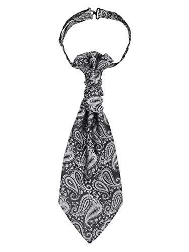 Cravatta da uomo pre-legata Plastron Cravat regolabile con gancio per matrimonio equitazione -...