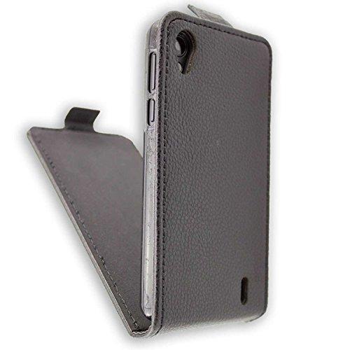 caseroxx Flip Cover für Medion Life E4005, Tasche (Flip Cover in schwarz)