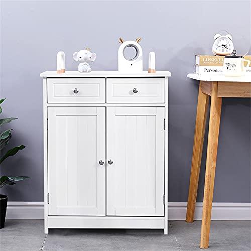Poazmron Mueble de baño para ahorrar espacio, mueble de baño de madera...