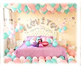 A: lettera d'argento SWEET WEDDING x 1 (16 pollici), palloncino (rosa + bianco) x 60, cuore x 6, pacchetto petalo x 2, pompa a palloncino x 1 B: silver letter I LOVE YOU x 1 (16 pollici), balloon (verde + rosa + bianco) x 100, cuore x 2, paillette x ...