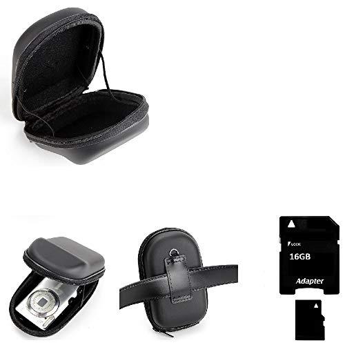 K-S-Trade Gürteltasche Kompatibel Mit Panasonic Lumix DMC-TZ101 Kameratasche + 16GB Speicherkarte Holster Hardcase Kompaktkamera Easy Access Leicht Zugänglich Case Schutz Hülle Fototasche
