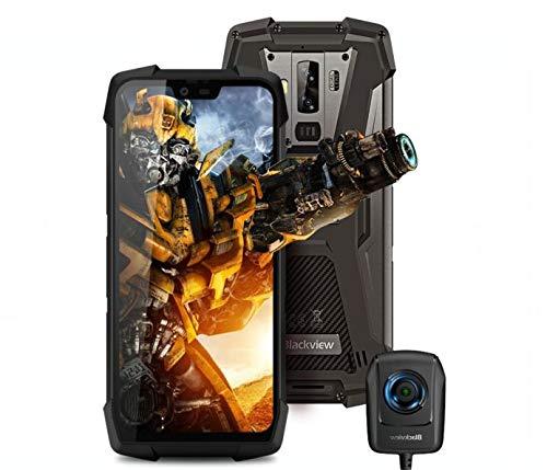 Blackview BV9700 Pro(Cámara de visión nocturna) movil antigolpes todoterreno - IP68 smartphone resistente agua y golpes, Helio P70 6GB + 128GB, calidad del aire y monitor de frecuencia cardiac GPS NFC