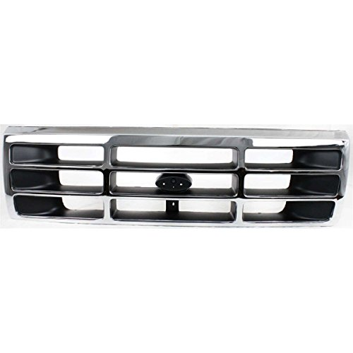 Grille Grill Chrome Assembly for 92-97 Ford Bronco F150 F350 F250 Pickup Truck