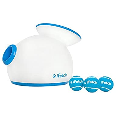 iFetch Interactive Ball Launcher for Dogs – Launches Mini Tennis Balls, Small