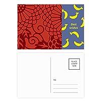 中国の日本語スタイルのアジアの花のパターン バナナのポストカードセットサンクスカード郵送側20個