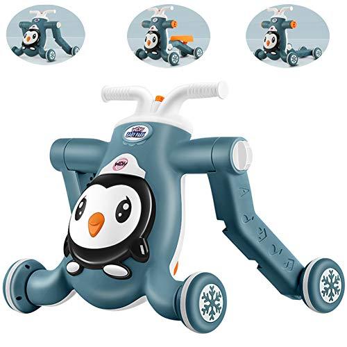 2020 Baby Activity Walker - 4-in-1 loopstoeltje, zit-sta-leerwandelaar Peuter Push-muziek-loopstoeltje, educatief speelgoed voor speelgoed