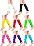 8 Pairs Women Knit Leg Warmers 80s Eighty's Ribbed Leg Warmers for Party Sports