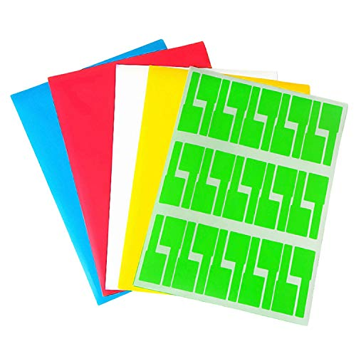 10 Blatt selbstklebende, wasserdichte, reißfeste Kabeletiketten Aufkleber Kabelidentifizierungsetiketten für den Multifunktions-Kopierer des Druckers