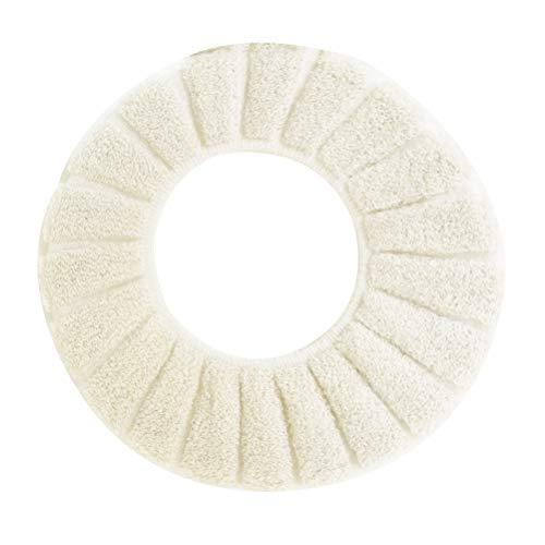 Yardwe Cubierta de Asiento de Inodoro Suave WC Baño (Beige)
