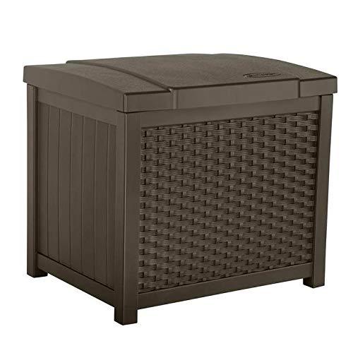 Suncast SSW900 Wicker Deck Box, 22 Gallon