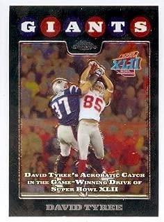 David Tyree football card (New York Giants Super Bowl Champion XLII) 2008 Topps Chrome #TC152 The Catch Refractor