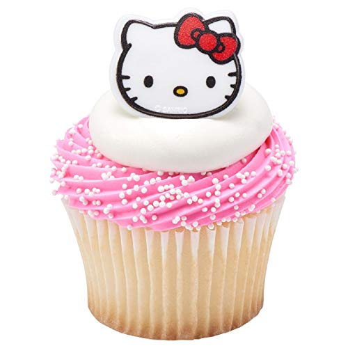 Hello Kitty Cat Cupcake Toppers Rings Party Favors Package of 24 from Blue Fox Baking