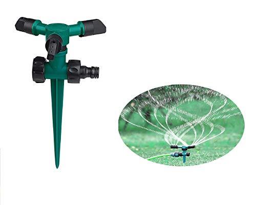Aspersores de riego cesped, Aspersores automáticos de jardín con rotación de 360 grados para jardín que cubren hasta 800 pies cuadrados.
