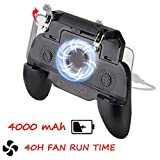 PUBG Mobile Controller 4000mAh, COCASES Power Bank Cooling Fan L1R1 Phone Trigger Game Joystick Grip Gamepad for 4.5-6.5'' Phone