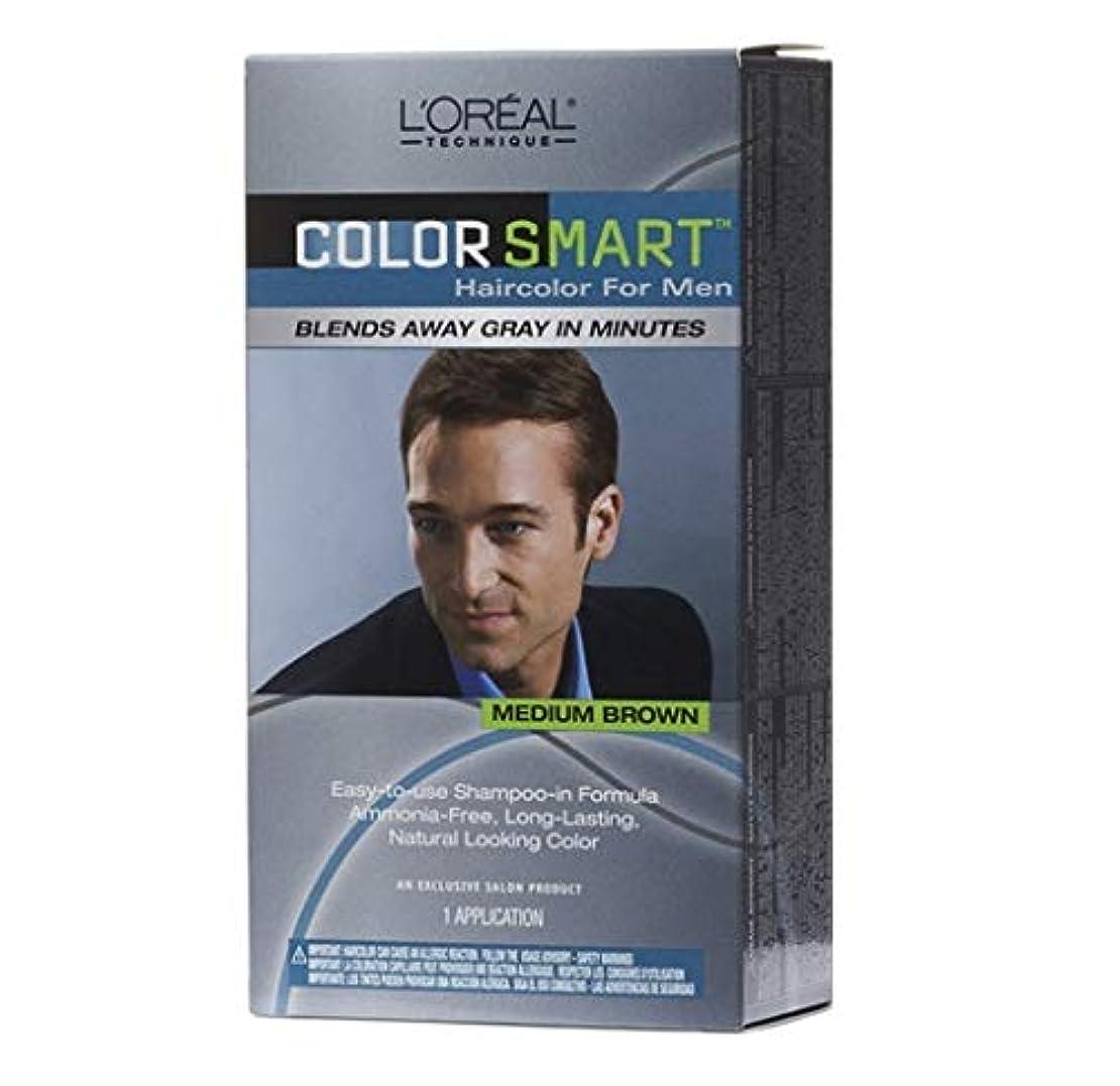 変成器突き刺す平らなL'Oreal Technique - Color Smart for Men - Medium Brown KIT