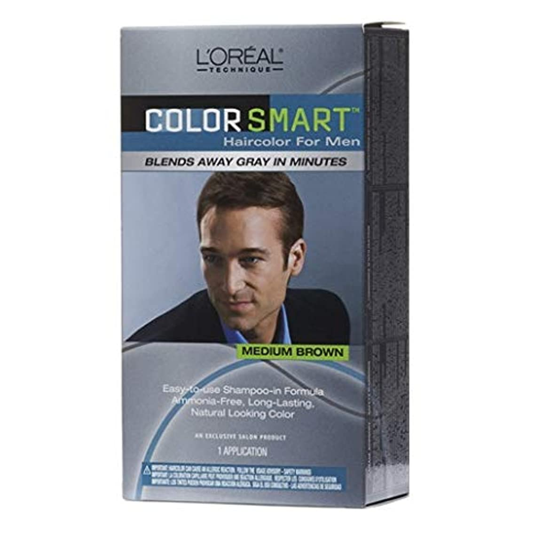 薄いですポンペイ警察署L'Oreal Technique - Color Smart for Men - Medium Brown KIT