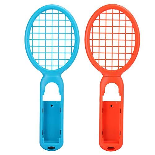AMONIDA Tennis Game Controller, Motion Sensing Tennisschläger, 1 Paar ABS-Kunststoff Joy Zubehör Mario Tennis Switch Spielekonsole für(Red + Blue (Color Box))