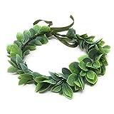 Corona de flores de Navidad Boho Boho para novia, para bebés, aliento y pelo Verde Hoja Verde talla única