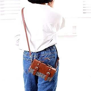 Fashion Single-Shoulder Bags Leisure Fashion PU Leather Slant Shoulder Bag Handbag (Black) (Color : Khaki)