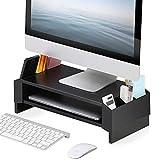 FITUEYES Elevador del Monitor Soporte para Monitor con Cajones de Organizar 45x 23,5x14cm Color Negro DT244001WP