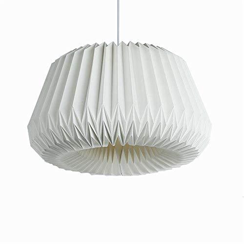 DQM Pantalla de Origami, Pantalla de lámpara Colgante, Hecha a Mano de Papel de algodón Reciclado con Cierre magnético, Protector de Bombilla de plástico, construcción Simple Pero sofisticada