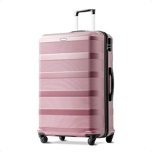 Super Lightweight ABS Hard Shell Travel Spinner 4 Wheels Suitcase Luggage