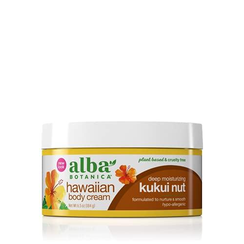Alba Botanica Hawaiian Body Cream, Deep Moisturizing Kukui Nut, 6.5 Oz