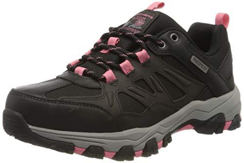 Skechers Damen Selmen-West Highland Sneaker, Schwarz (Black Leather/Textile/Coral Trim Bkcc), 41 EU