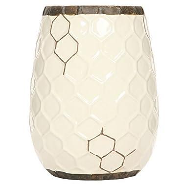 Hosley's Ceramic Honeycomb Vase - 7.5  High. Ideal Gift for Weddings, Spa, Flower Arrangements O6