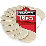 Feltrini adesivi X-PROTECTOR 16 pezzi 50 mm – Feltrini per mobili premium – Kit feltri...