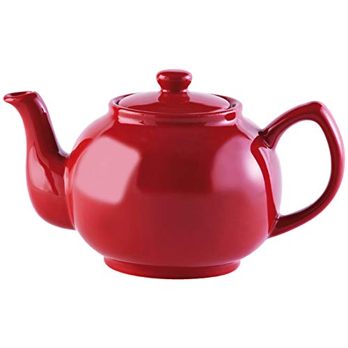 Price & Kensington, 6 Tassen Teekanne, Steingut, rot, glänzend