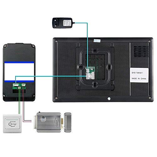 NA Home 7-Inch Smart Video Deurbel RFID Wachtwoord Video Deurtelefoon Intercom Deurbel met Infrarood Camera 1000Tft