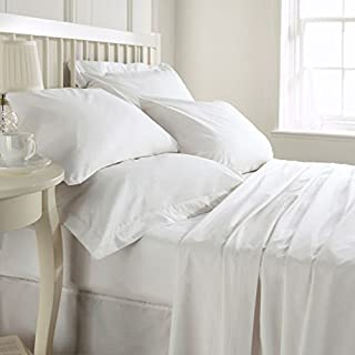 Whitecottonworld Hotel Luxury Egyptian Cotton 800 Thread Count Zipper Closer 1-Pieces Duvet Cover with Corner Ties, King/Cal-King (92 x 104 Inch) Size, Soft, Hypoallergenic, White Solid