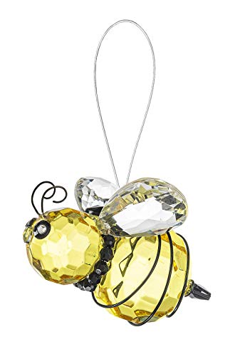 Ganz Queen Bee Sunshine Yellow 3 inch Sturdy Acrylic Decorative Hanging Ornament