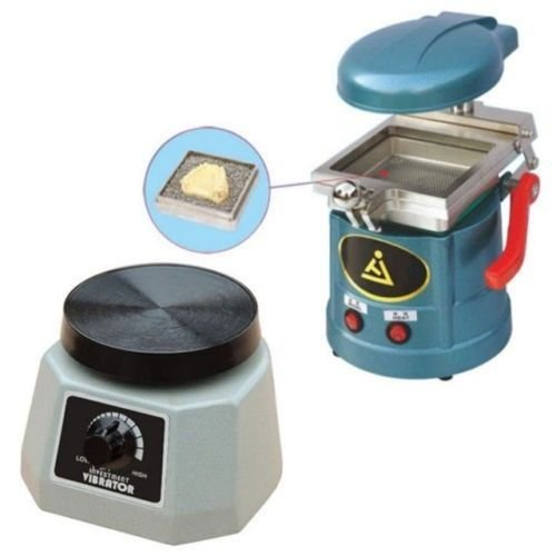 Dental Lab Vacuum Forming Molding Former Machine JT-18 + Round Vibrator Vibrating JT-14 NEW by