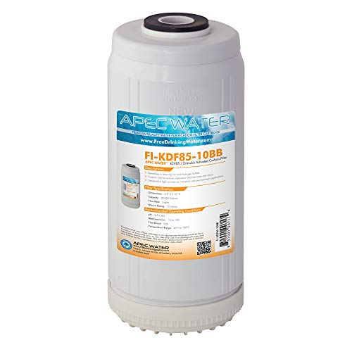 APEC Water Systems FI-KDF85-10BB US Made Iron and Hydrogen Sulfide Reduction Replacement Water Filter, 4.5'x10'