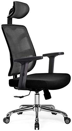 Life Equipment Silla giratoria oficina hogar cojín de esponja nativo ajuste cintura silla giratoria reclinable ergonómica para computadora 4 colores para elegir silla giratoria de 360 grados (Col