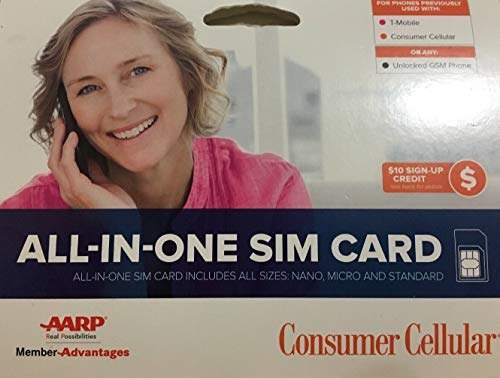 Consumer Cellular - T-Mobile - All-in-One SIM Card