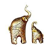 FZQ Resina artesanías Madre y niño Elefante Adornos protección del Medio Ambiente no se desvanece Europeo Antiguo Elegante hogar Sala de Vino gabinete