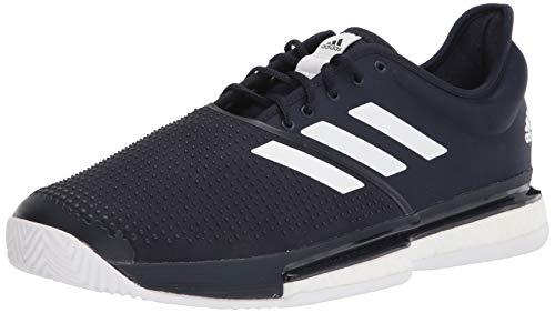 adidas Men's Solecourt Tennis Shoe, Ink/White/Ink, 7