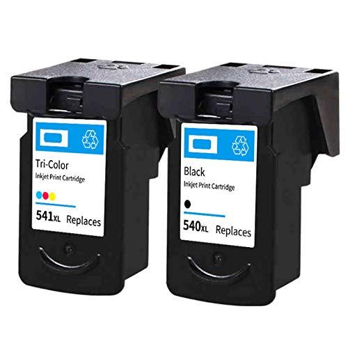 Reemplazo de cartuchos de tinta remanufacturados Adecuado para PG540XL CL541XL, para Canon Pixus MG2250 3150 MX375 MX395 MX515 Impresora 1*black1*color