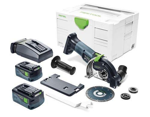 Festool 575347 Cordless Diamond Cutting System DSC-AGC 18-125 FH Li 5,2 EBI-Plus GB, Grey