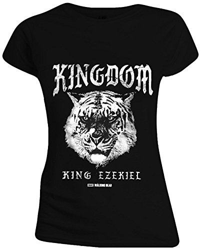 The Walking Dead - Kingdom Tiger Mujer Camiseta - Negro, Taille:M