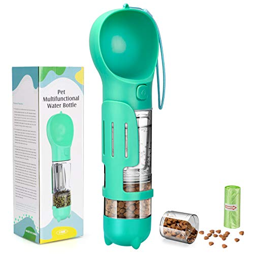 YoTelim Dog Water Bottle Portable Leak Proof Dog Water Dispenser with Drinking and Feeding Function Lightweight Pet Water Dispenser for Walking and Traveling for Dog, Cat and Other Animals