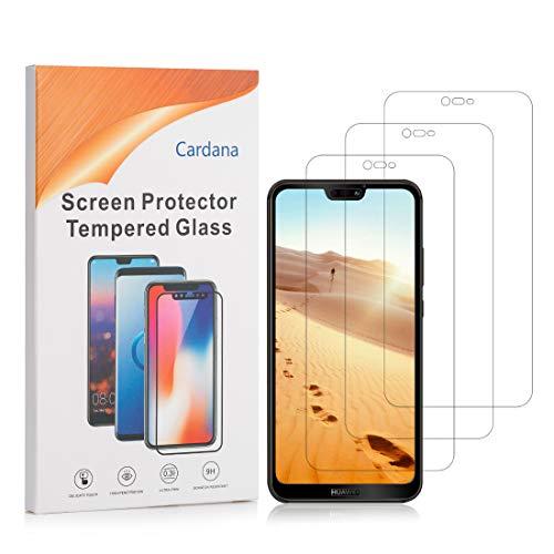 Cardana | 3X bruchsicheres Schutzglas für Huawei Ascend P20 Lite| Schutzfolie aus 9H Echt Glas